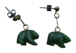 Jade Polar Bear Earrings