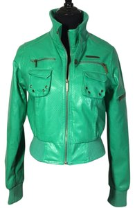 Paper Denim & Cloth Green Leather Jacket