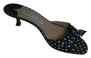 Manolo Blahnik Polka dot Sandals