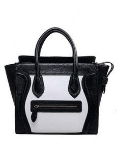 Other Satchel in Vanessa Black and White Leather