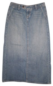 Eddie Bauer Maxi Skirt Denim Blue