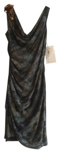 Mark & James by Badgley Mischka Flattering Slimming Detail Sequins Animal Print Dress