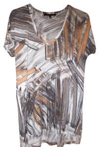 BCBGMAXAZRIA T-shirt Painterly Brushstroke Graphic Tunic