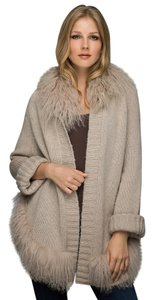 Alberto Makali Oversized Cardigan Fur Knit Cape