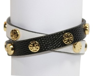 ed1b4311ea02c Tory Burch Tory Burch Double Wrap Logo Stud Bracelet Colorblock Saffiano  Leather