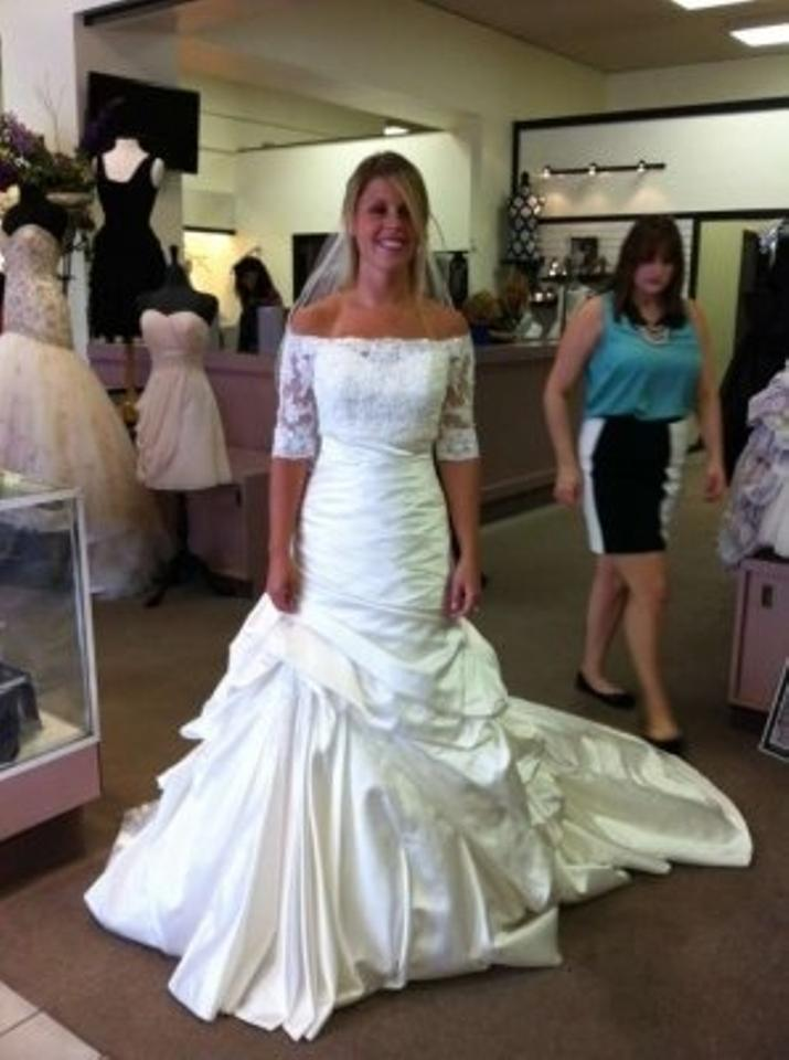 Maggie Sottero Ivory Symphony Wedding Dress Size 6 (S) - Tradesy