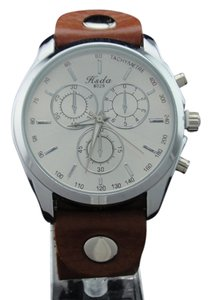 Charming Hsda Men's Stainless Steel Vintage Watch Genuine Cowhide Leather Easy To Read Analog