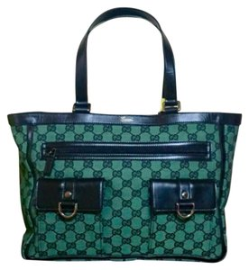 Gucci Tote in Green and black