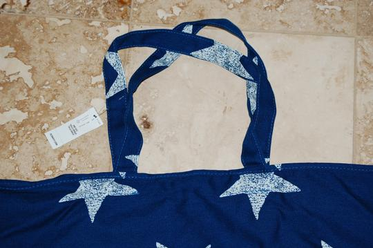 Old Navy Americana Style Canvas Tote in Blue and White