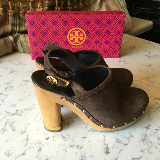 Tory Burch brown Mules