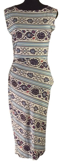 Item - White Blue Red Mid-length Casual Maxi Dress Size 4 (S)