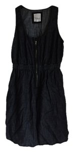 Heritage 1981 short dress black denim on Tradesy