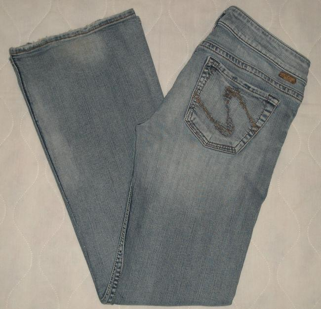 Silver Jeans Co. Classic 5 Pocket Style *zip Fly *cotton/spandex *grinding & Distressing Detail *stiched Back Pockets *boot Leg Opening Boot Cut Jeans-Light Wash