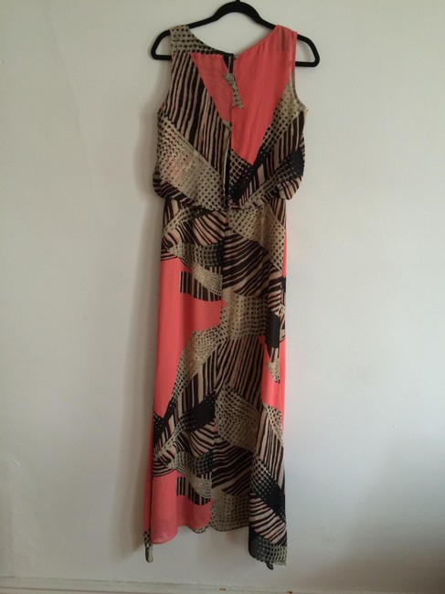 Multi Print (Coral, Black, Taupe) Maxi Dress by Taylor Maxi Crop Sleeveless Long Flattering