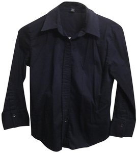 Banana Republic 3/4th Sleeve Button Down Shirt black