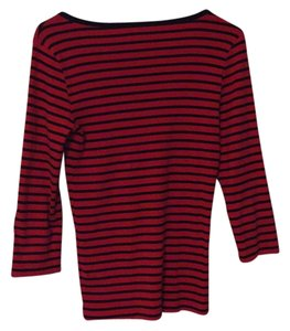 J.Crew T Shirt Red and navy stripe