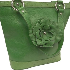 Isabella Adams Leather Tote in Green