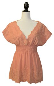 BCBGMAXAZRIA Boho Top Peach