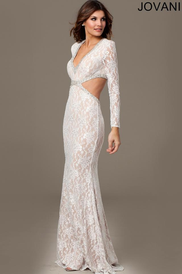 Jovani 99003 long sleeve lace wedding dress on sale 16 for Long sleeve lace wedding dresses for sale