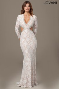Jovani 99003 Long Sleeve Lace Wedding Dress