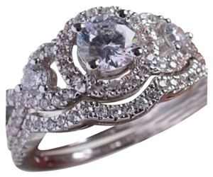 4CTW 2pc Sparkly Wedding Ring Set