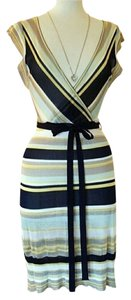 Crystal Candy Striped Tapered Dress