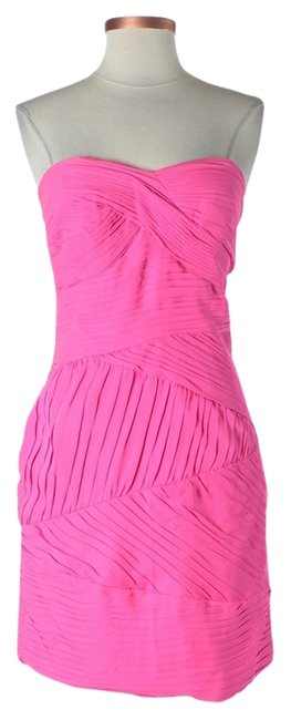 Preload https://item2.tradesy.com/images/shoshanna-strapless-sweetheart-pleated-dress-hot-pink-1256346-0-0.jpg?width=400&height=650