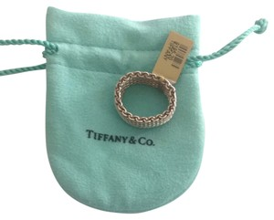 Tiffany & Co. Tiffany And Co. Sterling Somerset Ring Size 10 Good Condition With Original Pouch.