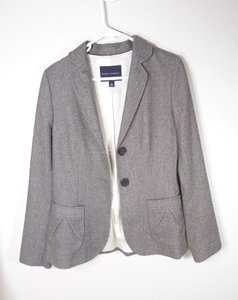Banana Republic Tweed Wool Blazer brown Jacket