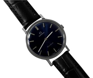 Omega 1974 Omega Geneve Vintage Mens Midsize Handwound Ultra Thin Dress Watch - Stainless Steel