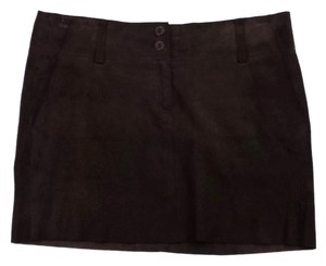 Theory Brown Suede Mini Mini Mini Skirt