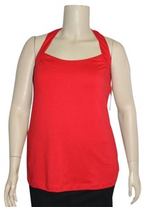 Derek Heart Open Back Plus Size 2x Red Halter Top
