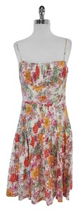 David Meister Multi Color Floral Print Dress