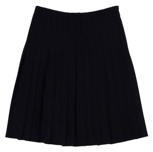 Theory Black Pleated Midi Midi Skirt