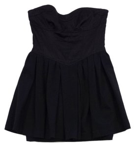 LaROK short dress Black Cotton Strapless on Tradesy