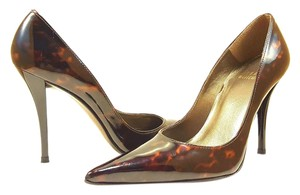 Stuart Weitzman Cognac and Black Tortoise Shell Pumps