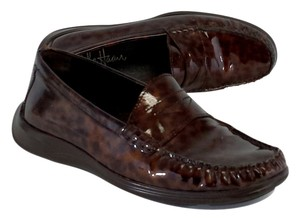 Cole Haan Red Tortoiseshell Patent Flats