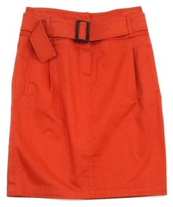 Max Mara Burnt Orange Belted Skirt