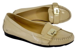 Cole Haan Nude Gold Patent Leather Flats