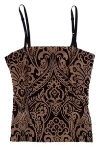 Dolce&Gabbana Brown Tan Velvet Bustier Top