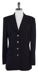 Escada Long Black Wool Suit Jacket