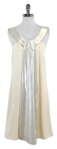 Lisa Ho Cream Silver Panel Silk Dress