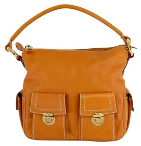 Marc Jacobs Orange Multi Pocket Calf Hobo Bag