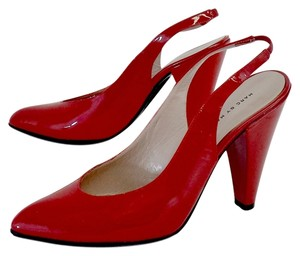 Marc by Marc Jacobs Red Pointed Toe Slingback Heels Sandals