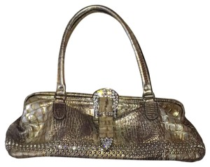 Raviani Satchel in Taupe and Silver