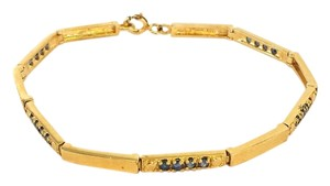 Other Gold & Sapphire Stone Tennis Bracelet