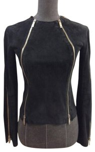 Emporio Armani Suede Top Black