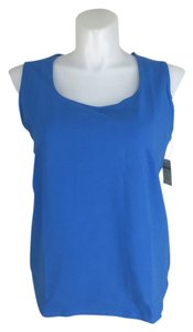 Coldwater Creek New Perfectly Simple Stretch Knit Shell Top Blue