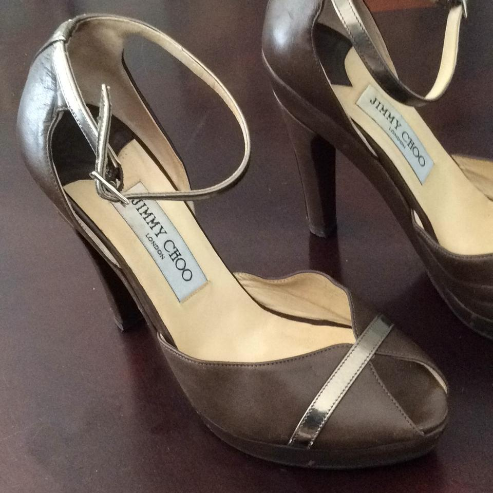 Jimmy Choo Platforms Brown Taupe Choo Brown Platforms Jimmy Jimmy Taupe rr6qxA