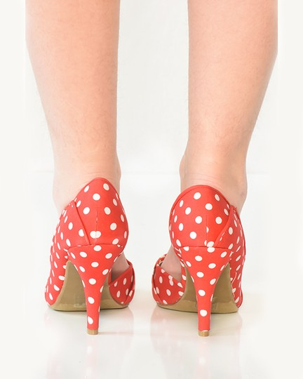 Call It Spring Polka Dot D'orsay Red Pumps